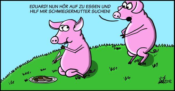 Schweinesteak-Comic