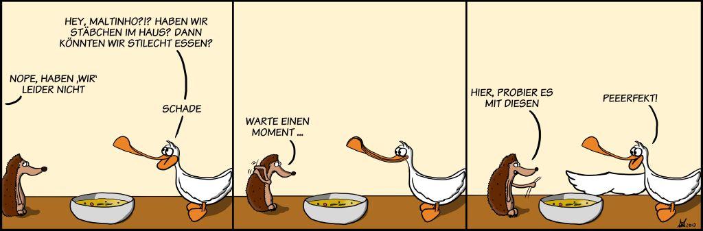 Comic-Hühnersuppe