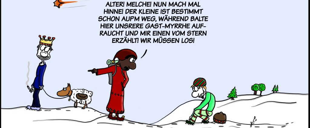 Malte Klingenhäger Comic: Die eiligen drei Könige