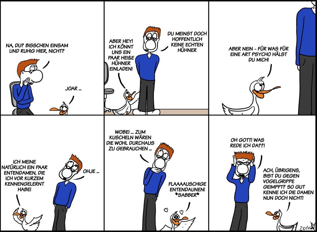 Der Wo Ente: Flauschige Entendaunen