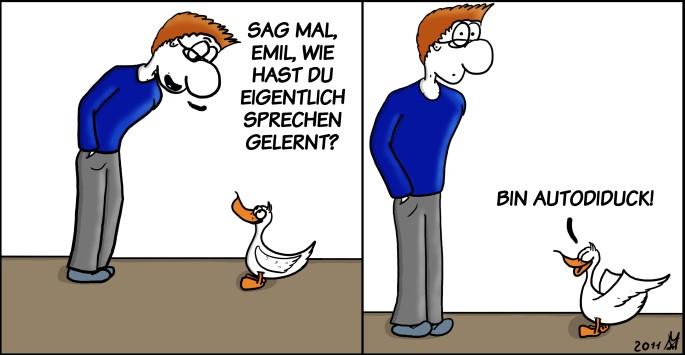 Der Wo Ente: Autodiduckten