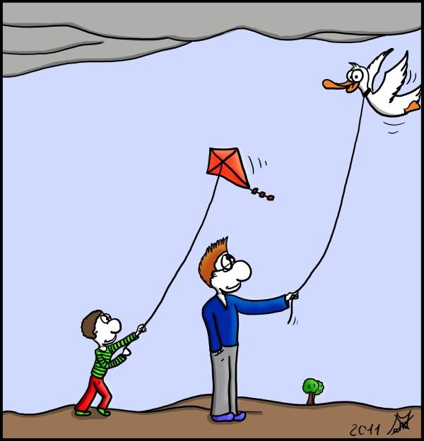 Der Wo Ente: Gassi fliegen