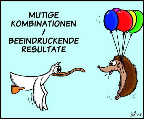 Der Wo Ente: I want to fly like an Igel