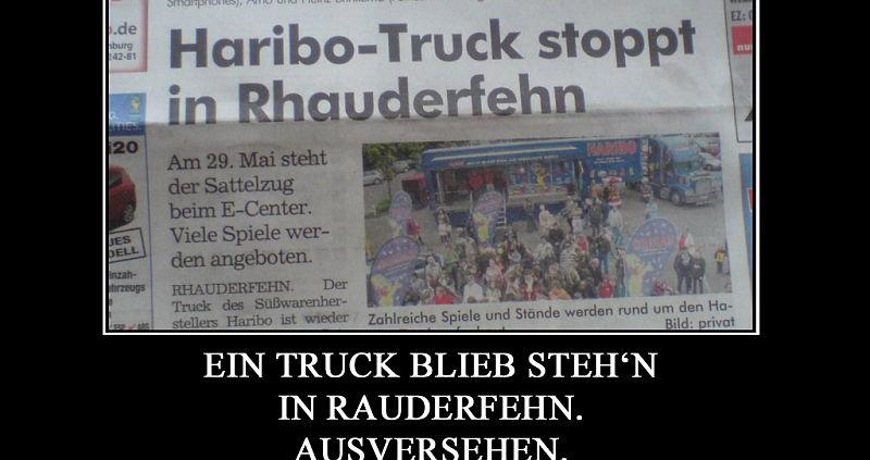 Nichtcomic: Ein Truck blieb steh'n in Rauderfehn ...