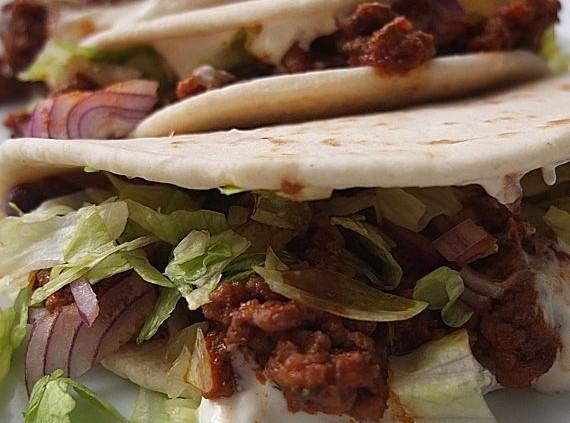 Malte Evers Rezept: Tortillas mit Hackfleisch und Bohnen