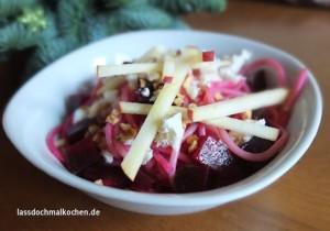 Malte Evers Rezept: Nudelsalat mit Rote Bete, Feta und Haselnüssen