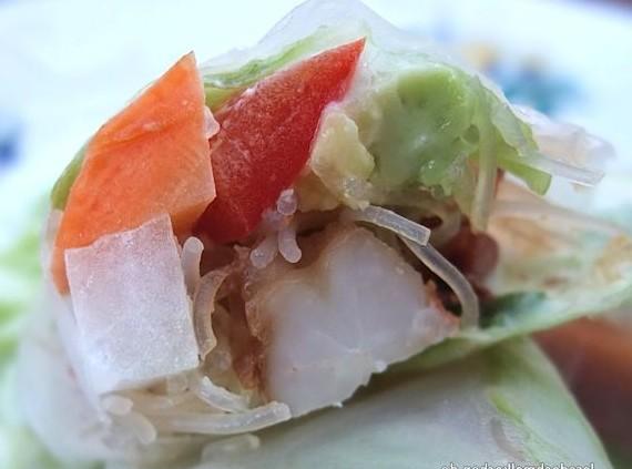 Malte Evers Rezept: Reispapierröllchen mit Garnelen und Glasnudeln