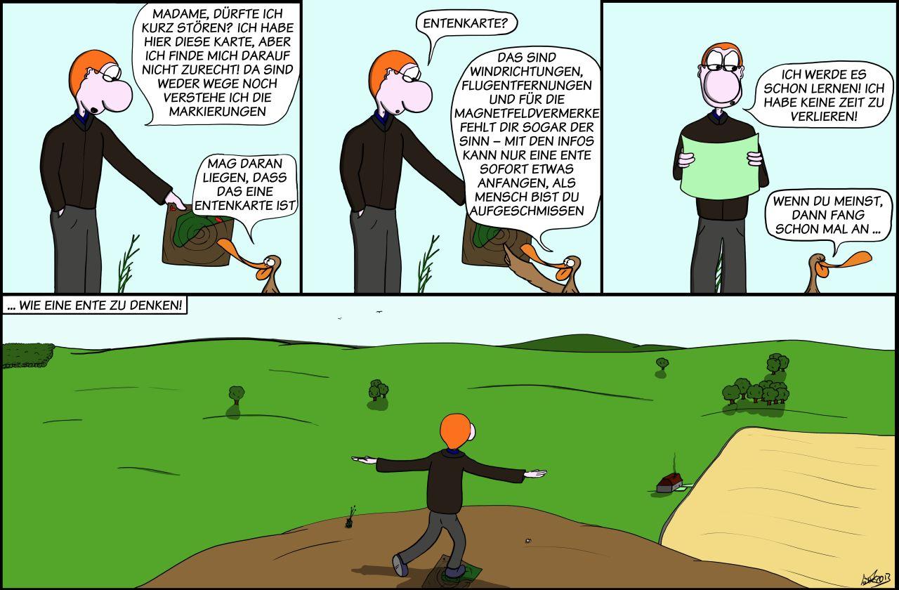 Der Wo Ente: Kein Sinn für Felder