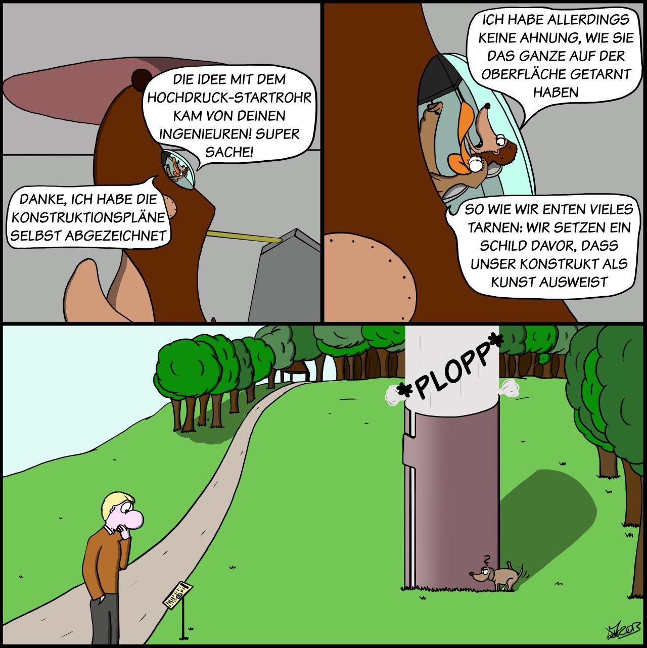 Der Wo Ente: Tarnkunst