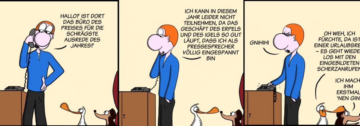 Der Wo Ente: Erstmal 'nen Schnaps