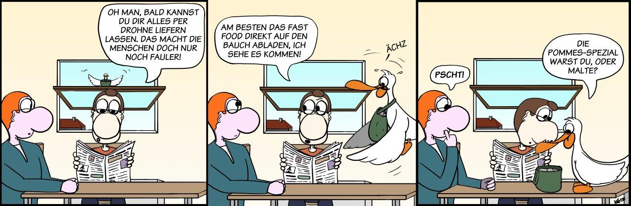 Der Wo Ente: Die (Liefer-)Zeiten ändern sich